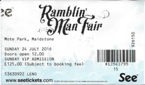 RAMBLIN MAN TICKET