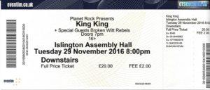 king-king-ticket